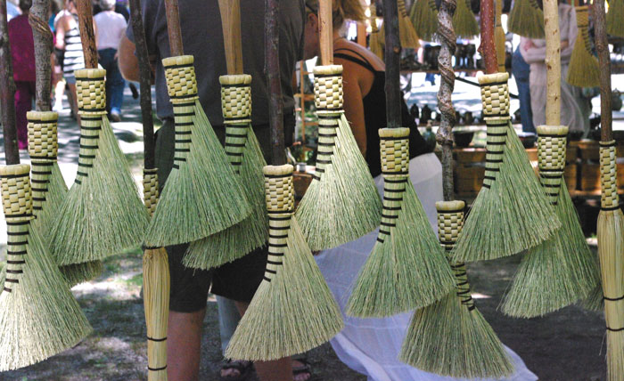 brooms booth at Augusta Festival